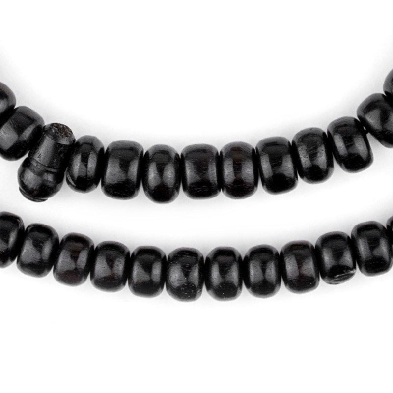 Rondelle Black Ebony Arabian Prayer Beads (8mm) - The Bead Chest