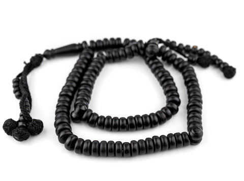 Rondelle Black Ebony Arabian Prayer Beads (10mm) - The Bead Chest