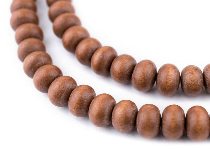 Light Brown Abacus Natural Wood Beads (8x12mm) - The Bead Chest