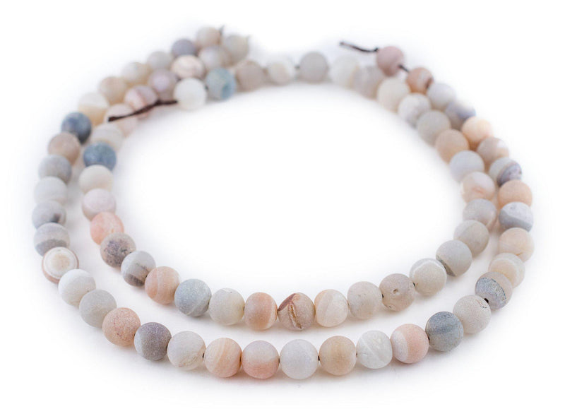 Pearl Round Druzy Agate Beads (10mm) - The Bead Chest