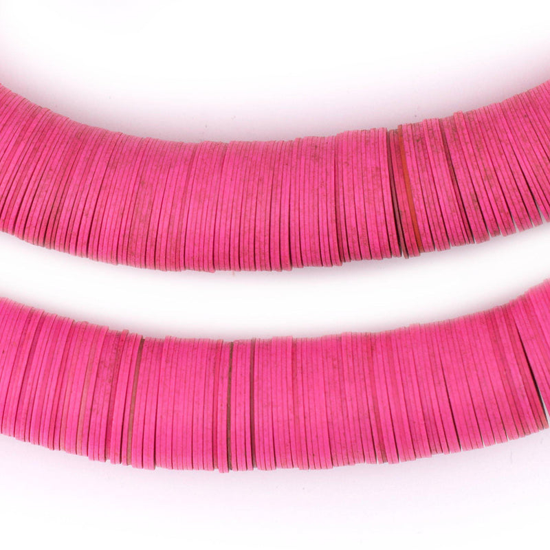 Pink Vintage Vinyl Phono Record Beads (13-15mm) - The Bead Chest