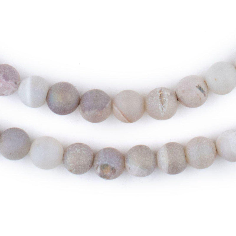 Pearl Round Druzy Agate Beads (8mm) - The Bead Chest