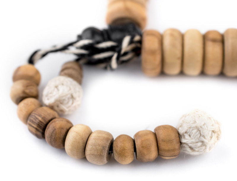 Rondelle Olive Wood Arabian Prayer Beads (12mm) - The Bead Chest
