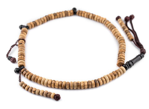 Rondelle Olive Wood Arabian Prayer Beads (10mm) - The Bead Chest