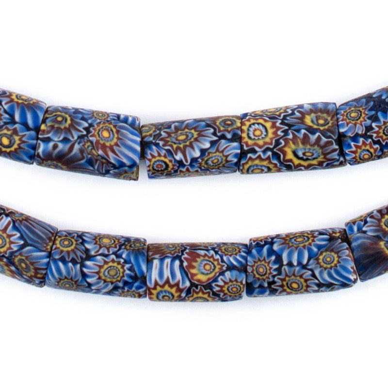 Imperial Blue Antique Matching Venetian Millefiori Trade Beads - The Bead Chest