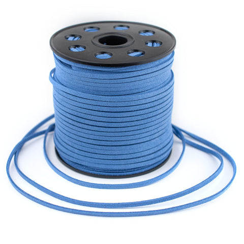 3mm Flat Blue Faux Suede Cord (300ft)