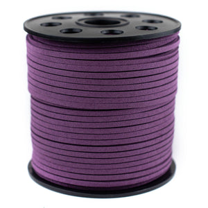 3mm Flat Purple Faux Suede Cord (300ft)