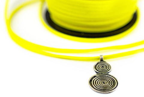 3mm Flat Sherbet Yellow Faux Suede Cord (300ft)