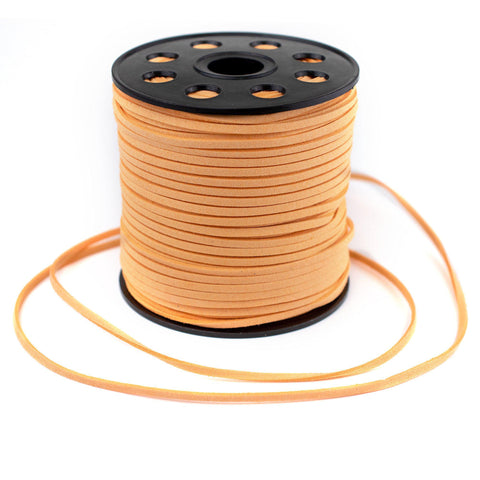 3mm Flat Sherbet Orange Faux Suede Cord (300ft)