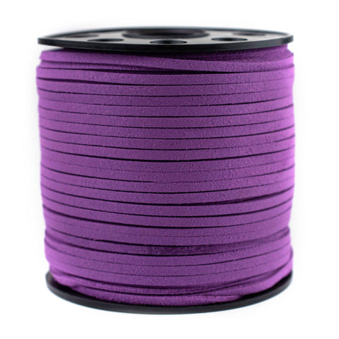 3mm Flat Magenta Faux Suede Cord (300ft)