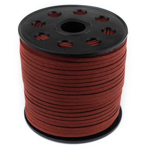 3mm Flat Burgundy Faux Suede Cord (300ft)
