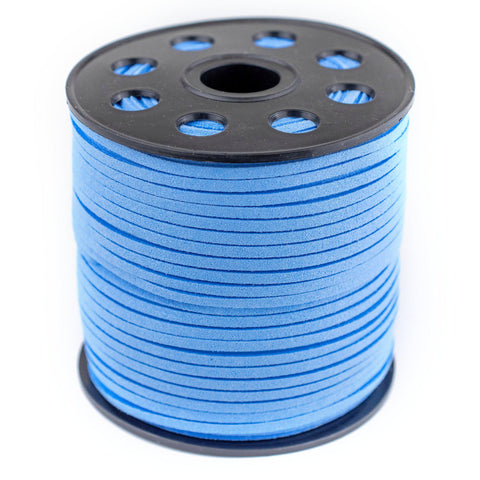 3mm Flat Carolina Blue Faux Suede Cord (300ft)