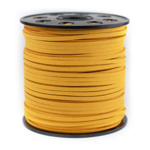 3mm Flat Gold Faux Suede Cord (300ft)