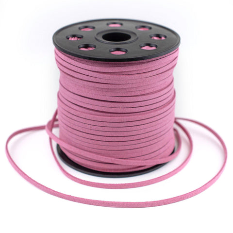 3mm Flat Dark Pink Faux Suede Cord (300ft)