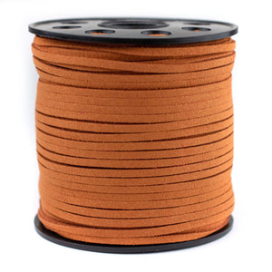 3mm Flat Orange Faux Suede Cord (300ft)