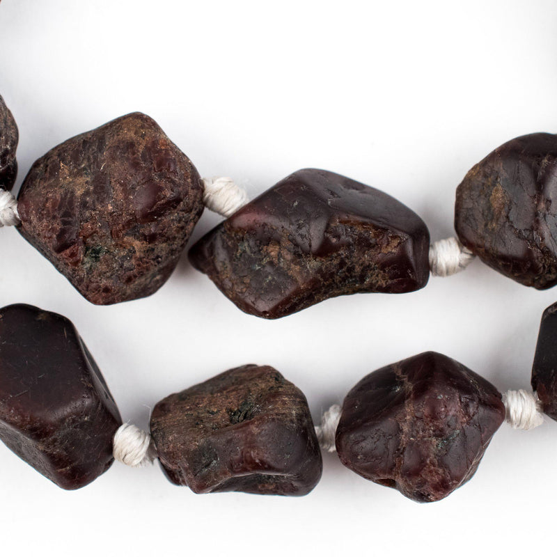 Brown Garnet Stone Chunk Beads - The Bead Chest