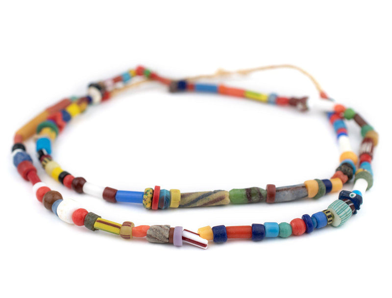 Fancy Ghana Chevron Trade Beads (Large) - The Bead Chest