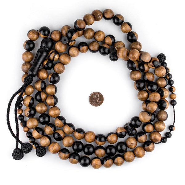 Round Ebony Arabian Prayer Beads (14mm)