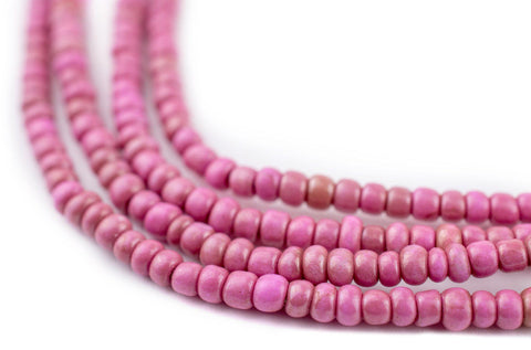 Image of Bright PInk Ghana Seed Beads (3mm) - The Bead Chest
