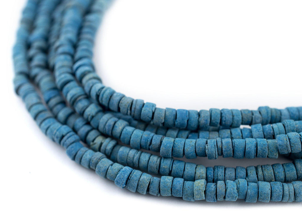 Blue Pharaonic Pottery Beads - The Bead Chest
