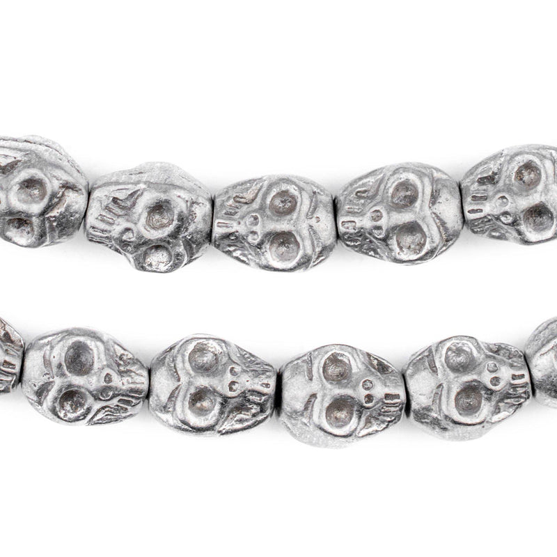 Aluminum Skull Beads (14x12mm) - The Bead Chest