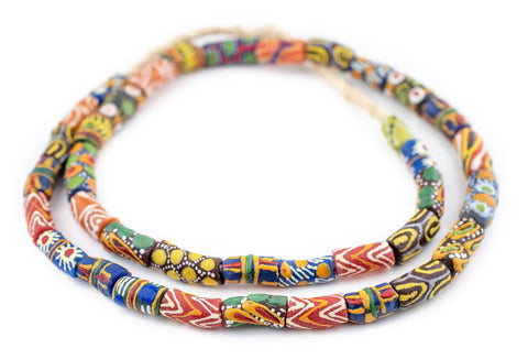 Rainbow Mix Krobo Powder Glass Beads - The Bead Chest