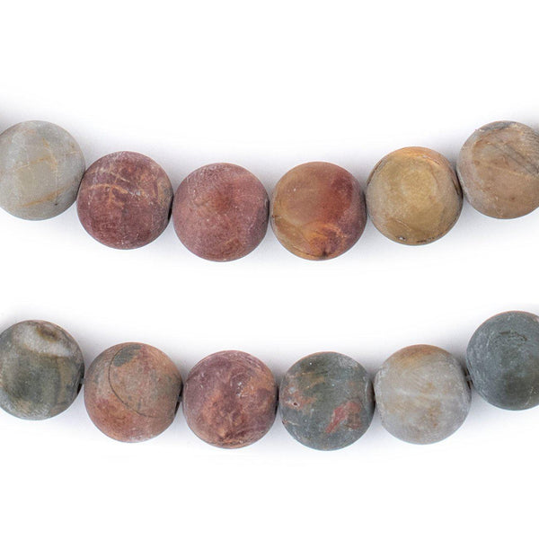 Matte Round Creek Jasper Beads (10mm)