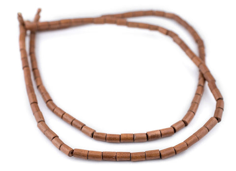 Image of Light Brown Tube Natural Wood Beads (7x5mm) - The Bead Chest