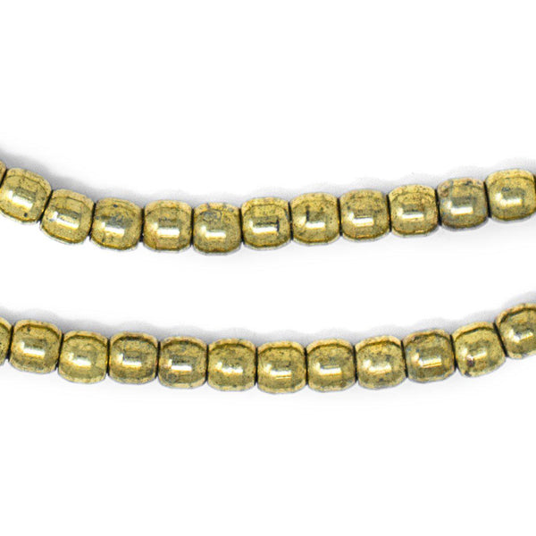 Brass Miniature Padre Beads (6mm) - The Bead Chest
