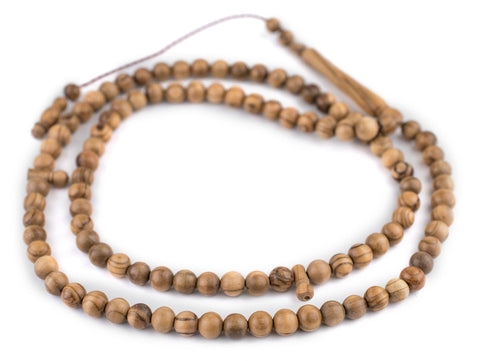 Round Olive Wood Arabian Prayer Beads (8mm) - The Bead Chest