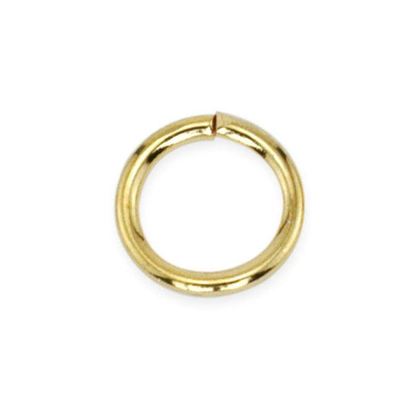6mm Gold Color Jump Rings (144 Pieces)