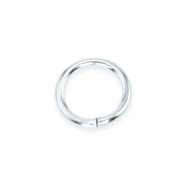 8mm Silver Plated Jump Rings (144 Pieces)