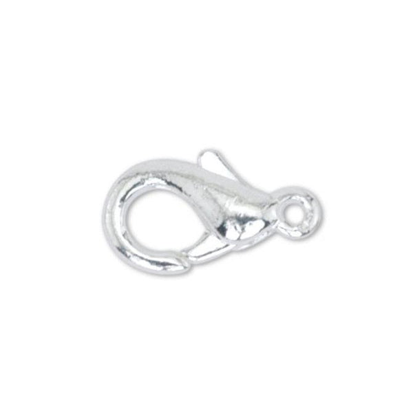 Mini Silver Plated Lobster Clasp (6x10mm, 10 Pieces)