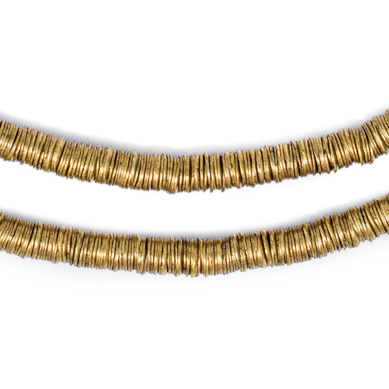 Brass Interlocking Crisp Beads (6mm) - The Bead Chest