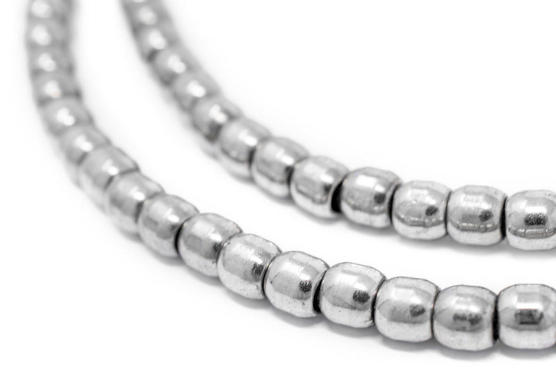 Silver Miniature Padre Beads (6mm) - The Bead Chest