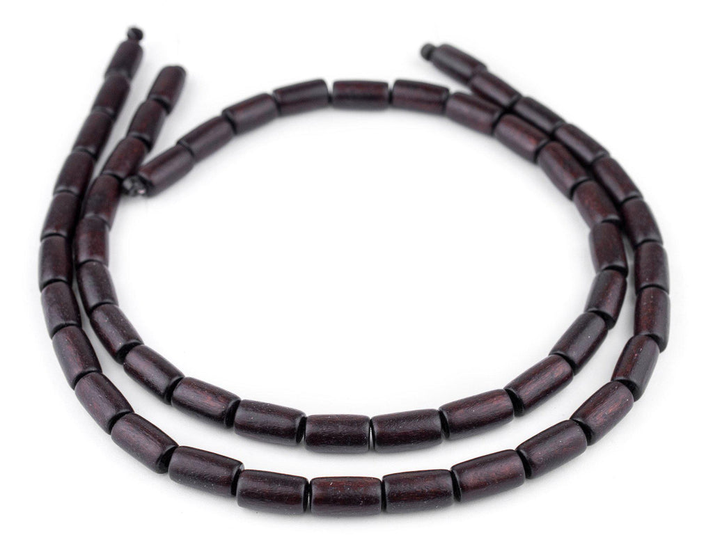Dark Brown Tube Natural Wood Beads (15x8mm) - The Bead Chest