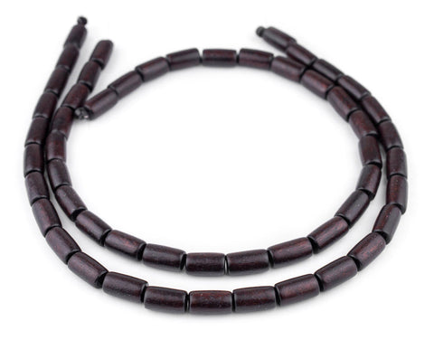 Image of Dark Brown Tube Natural Wood Beads (15x8mm) - The Bead Chest