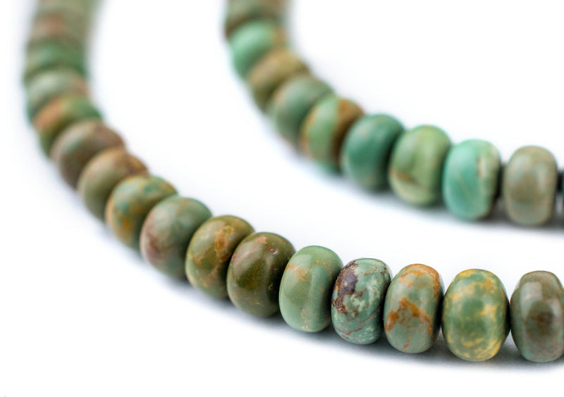 Light Green Turquoise Rondelle Beads (6mm) - The Bead Chest