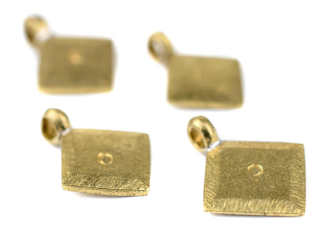 Image of Brass Ethiopian Diamond Ornaments (Set of 4) - The Bead Chest