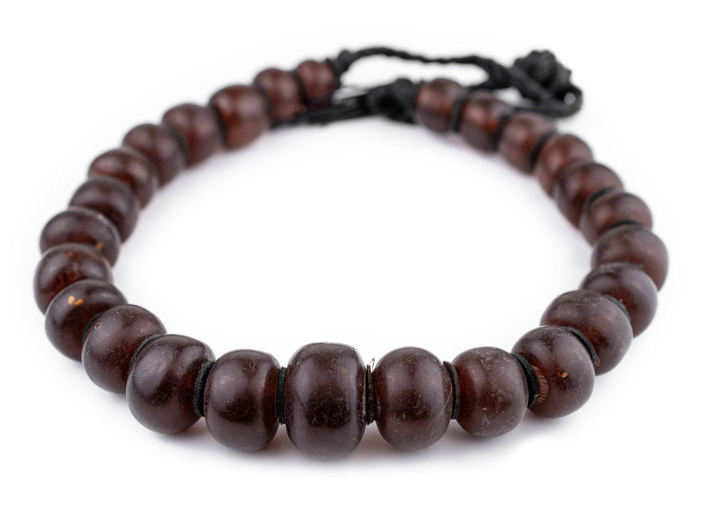 Translucent Burgundy Amber Resin Beads (Graduated) - The Bead Chest