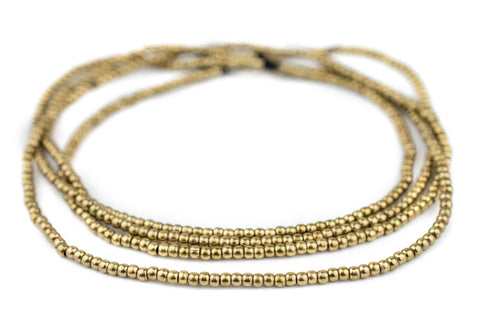Smooth Brass Seed Beads (3mm) - The Bead Chest