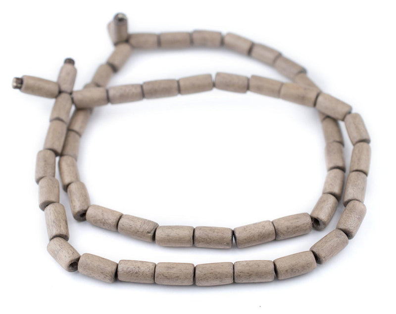 Brown Tube Natural Wood Beads (15x8mm) - The Bead Chest