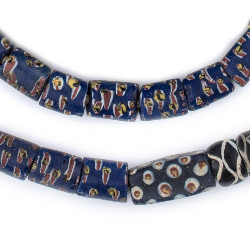 Black & Blue Antique Venetian Trade Beads - The Bead Chest