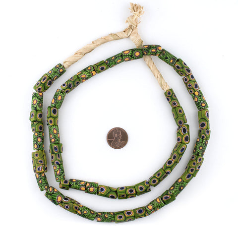 Image of Frog and Fern Antique Venetian Millefiori Trade Beads - The Bead Chest