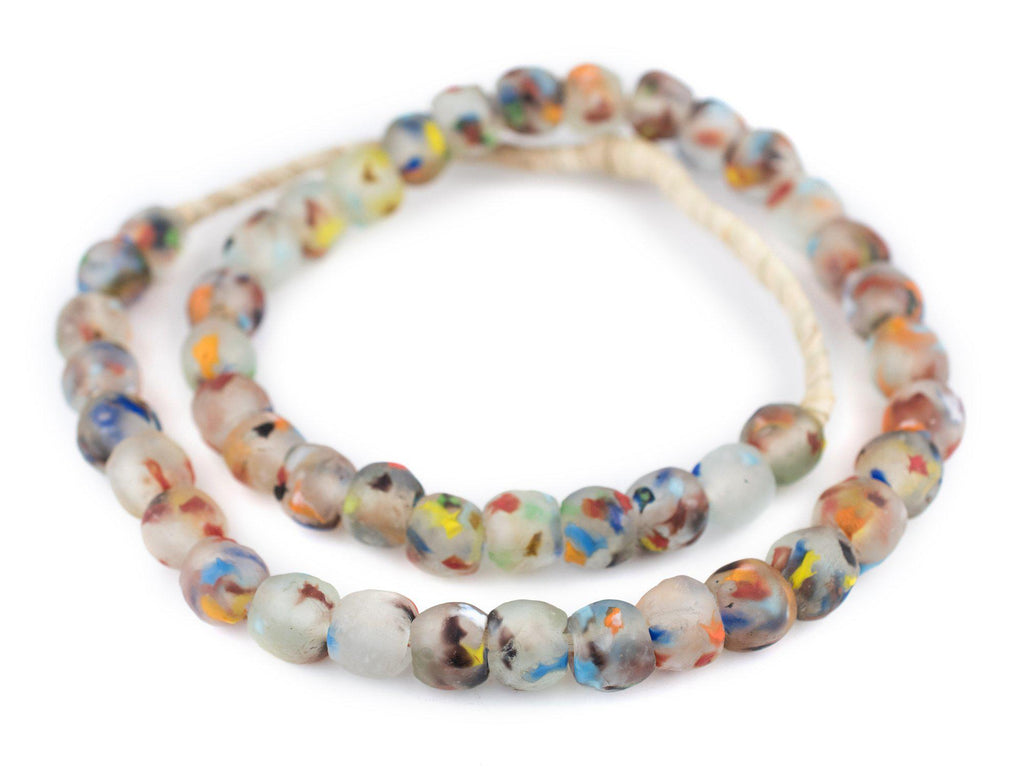 Rainbow Speckled Recycled Glass Beads (14mm) - The Bead Chest