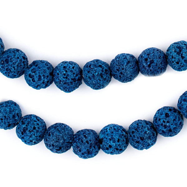 Turquoise Blue Volcanic Lava Beads (8mm)
