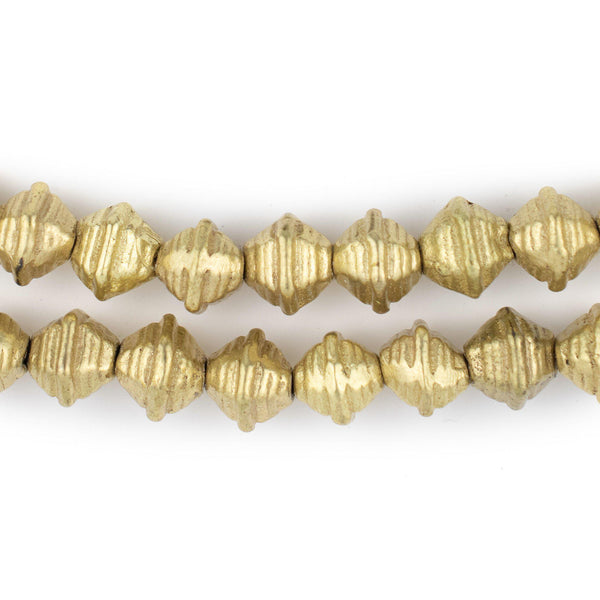 Striped Brass Bicone Beads