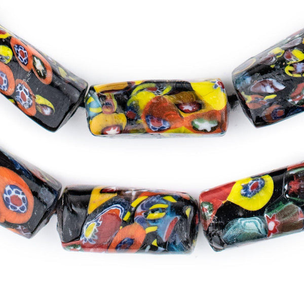Rectangular Millefiori Beads (26x12mm)