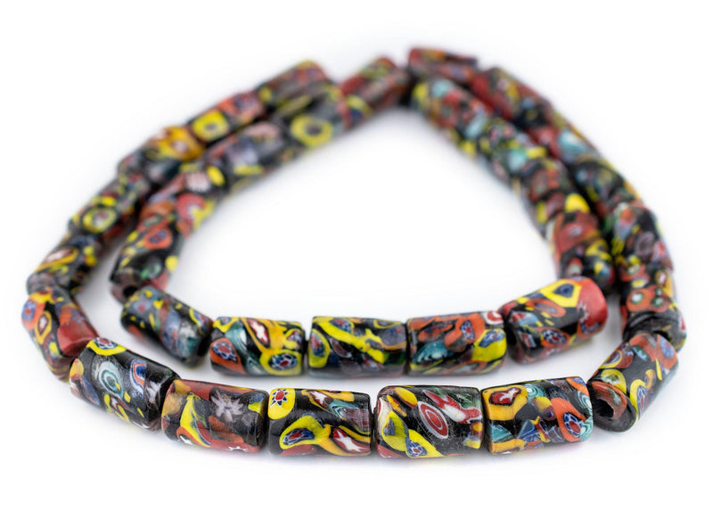 Cylindrical Millefiori Beads (18x8mm)