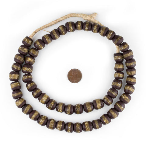 Image of Dark Brown Kente Krobo Beads - The Bead Chest